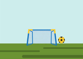 Soccer Goal with ball ,Vector illustrations