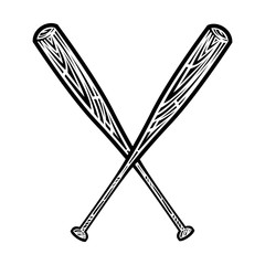Baseball bat vector icon