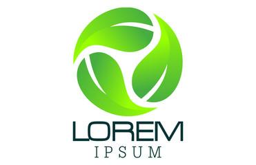 leaf logo recycle