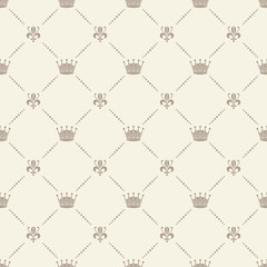 Crown royal seamless pattern