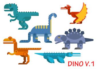 Prehistoric dinosaurs of jurassic period