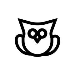 Owl, knowledge line icon