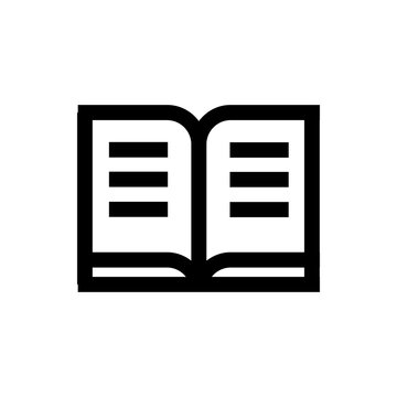 Student journal line icon.