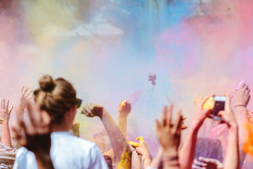 People in Holi Festival
