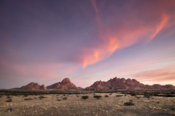 Landscape at the Spitzkoppe in Namibia