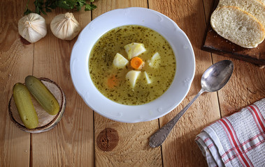 Delicious Homemade cucumber soup