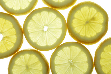 circle slices of lemon