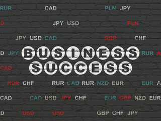 Finance concept: Business Success on wall background