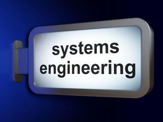 Science concept: Systems Engineering on billboard background