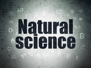 Science concept: Natural Science on Digital Paper background