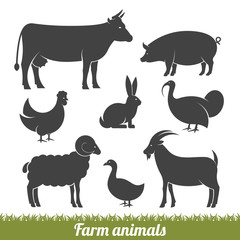 farm animals minimal