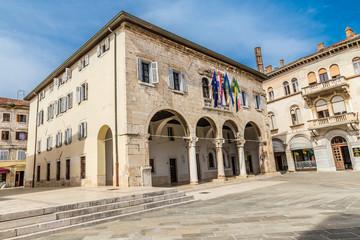 Foto auf Leinwand Oper / Theater Gothic Communal Palace - Pula, Istria, Croatia