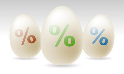 Ostereier-Set - Prozentzeichen