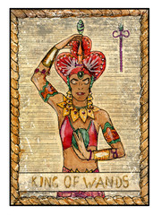The old tarot card. King of Wands
