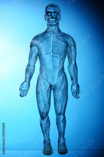 Turbo Mensch aus Glas als Gläsener Mensch oder Gläsener Patient  YH47