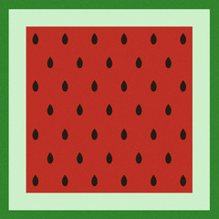 Pattern with watermelon surface