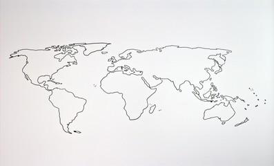 Foto op Aluminium Wereldkaart The world map