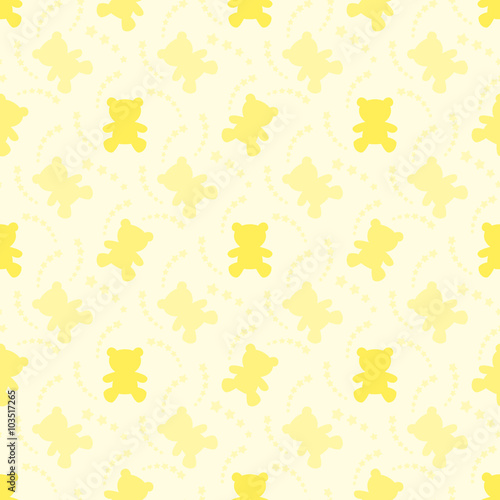 Yellow Seamless Pattern Wallpaper For Kids