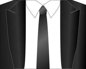 classic jacket with a tie front view