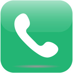 Telephone icon with shadow