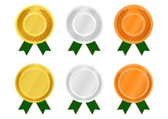 イラスト「メダルラベル」