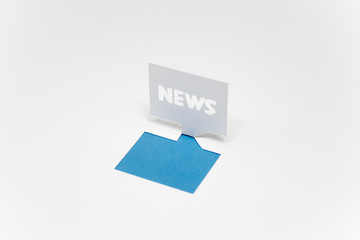 ニュース(NEWS)のイメージ(青・文字なし)