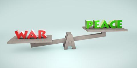 Pessimistic balance scale: war vs. peace