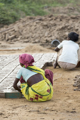 Scenes of rural life in India