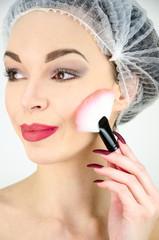 Beautiful girl makeup face