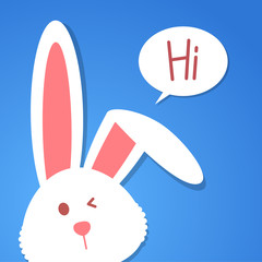 cartoon rabbit, vector