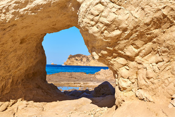 Javea Xabia Cala Blanca beach in Alicante Spain