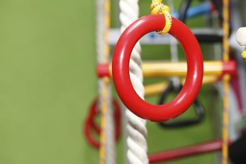 gymnastics rings rope ladder