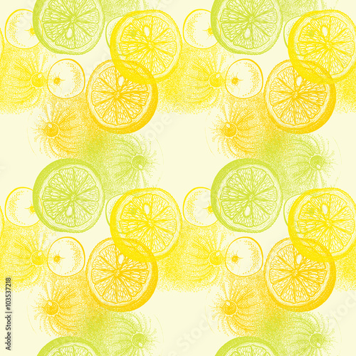 """Fotolip Com Rich Image And Wallpaper: """"Wallpaper Seamless Pattern With Hand Drawn Oranges Citrus"""