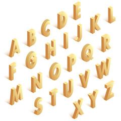 Isometric golden alphabet