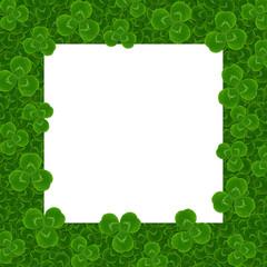 square frame leaves clover trefoil shamrock  pattern