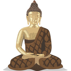 Buddha sitting in a lotus position