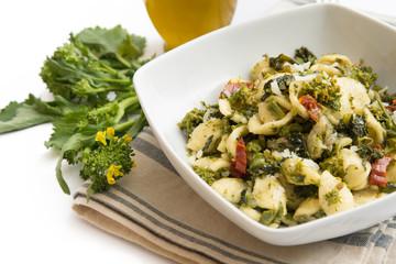 Orecchiette con cime di rapa, Italian pasta with turnip greens