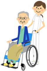 看護師と高齢者
