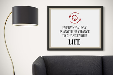 Inspirational Motivating Quote on Picture Frame.