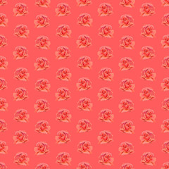 Watercolor roses. Seamless wallpaper floral pattern.