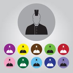 Punk vector icon