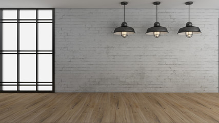 Industrial interior design and decoration 3d Render images for your work. Wall mural