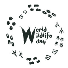 World Wildlife day Footprints