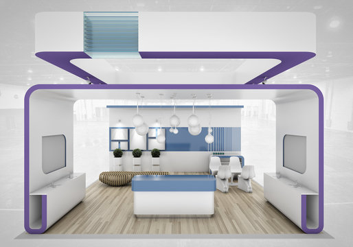 violet exhibition stand