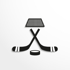 Sport signs. Hockey. Vector icon.