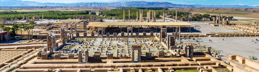 View on Persepolis from the Tomb of Artaxerxes III
