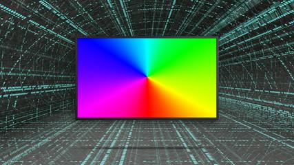 RGB colorful led TV display