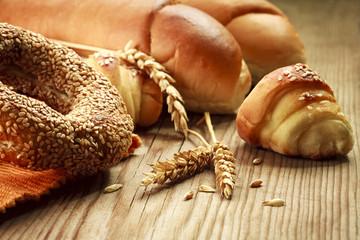 freshly baked bakery products