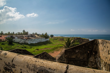 Fortification and city view Fort Galle