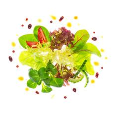 Gemischte  Blattsalate mit Dressing